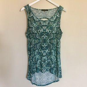 Rose & Olive High/Low Tank
